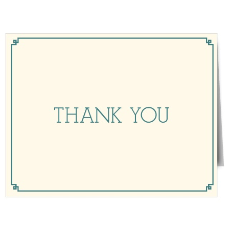 The Frog Thank You Card is simple, classic, and cute! Check out that adorable frame!