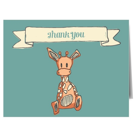 The Giraffe Thank You Card is simple, classic, and cute! Check out that adorable frame!