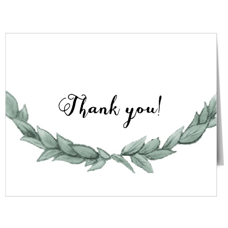 Show your gratitude with the Leafy Love Thank You card which has a very classy and vintage design that is fully customizable.