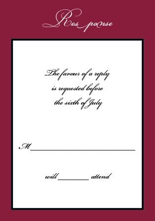 the simply formal wedding invitation