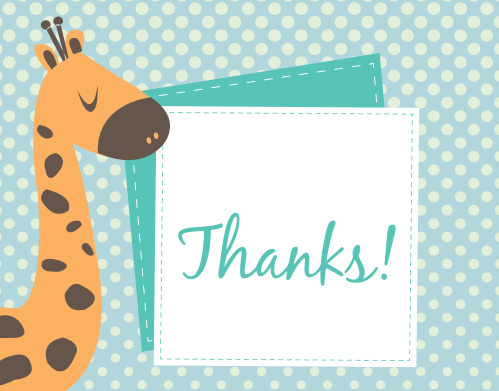 This wonderful Grand Giraffe thank you card is just adorable!
