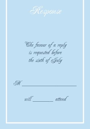 The Simple Border Wedding Invitation