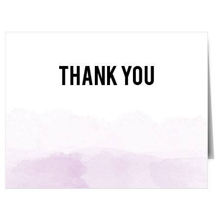 Show your gratitude with the Watercolor Dip Thank You card which has a very classy and vintage design that is fully customizable.