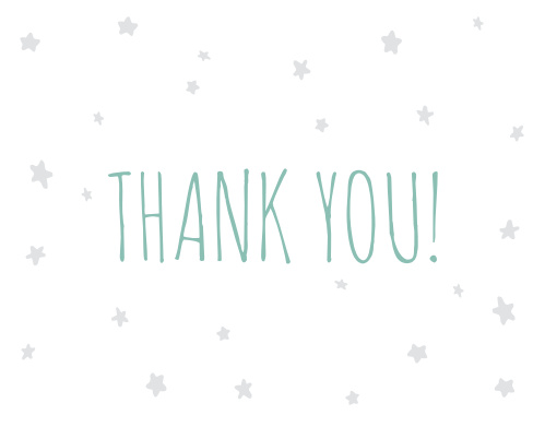 Night Night Baby Shower Thank You Cards