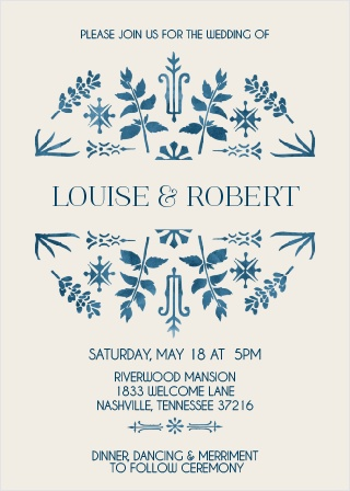 The Painted Floral Wedding Invitations