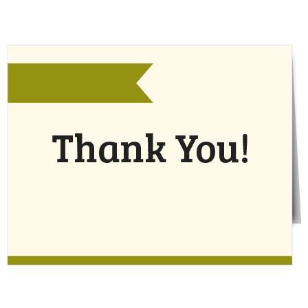 Express your gratitude to family and friends with The Minimalist Thank You Card