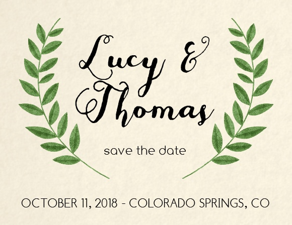 The Vintage Wreath Save The Date Magnet is awesome, and totally customizable!