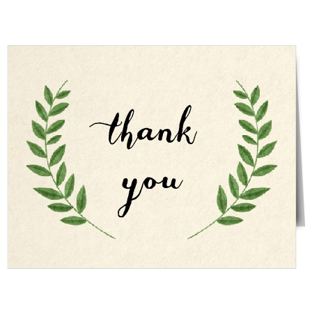 Express your gratitude to family and friends with The Vintage Wreath Thank You Card