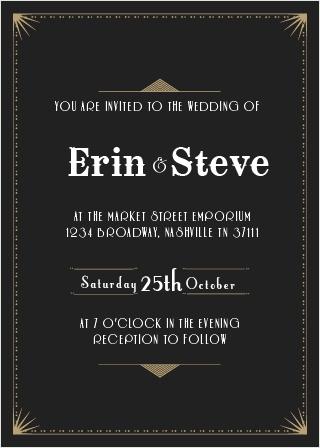 The Night Deco Wedding Invitations