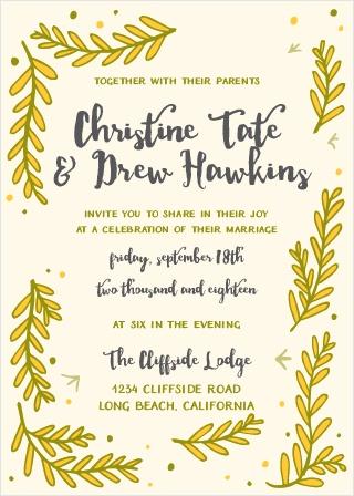The Flowing Ferns Wedding Invitations