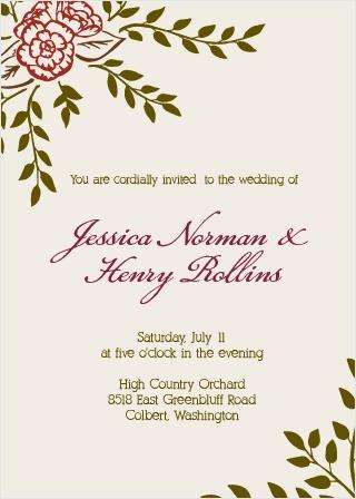 The Illustrated Peonies Wedding Invitation