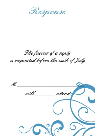 Have your guests RSVP in style with these Simple Swirls response cards!