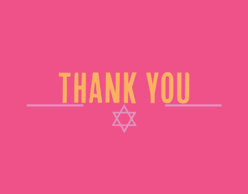 Cute and simple, the Subway Bat Mitzvah Thank You Card is perfect for expressing your gratitude to all those who celebrated with you! Completely customizable, too!