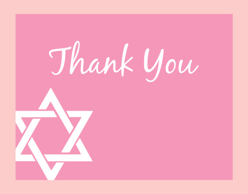 Nothing is more adorable than the Bold Bordered Bat Mitzvah Thank You Card, your friends and family are sure to love it! ! Completely customizable, too!