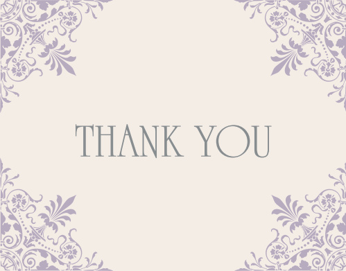 Send your gratitude to family and friends  with the Elegant Corners Bat Mitzvah Thank You Card. With it's vintage damask corner decor, your recipients will sure be impressed! Completely customizable, too!