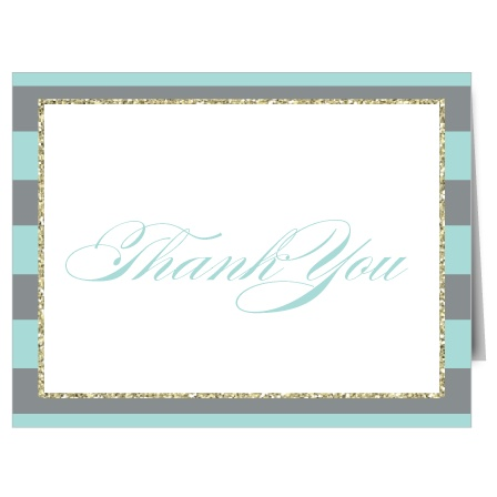 Dazzle your family and friends with the Golden Stripes Bat Mitzvah Thank You Card. Completely customizable, too!