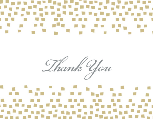 The Confetti Bat Mitzvah Thank You Card is perfect for anyone wanting a simple, yet stylish way to express their gratitude! Completely customizable, too!