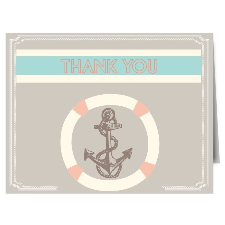 Express your gratitude to family and friends with the Anchor Bridal Shower Thank You Card. Adorned with an adorable nautical design, this card will sure be a hit amongst it's recipients!