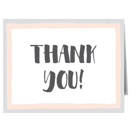 Express your gratitude to family and friends with Sandy Splendor Thank You Card