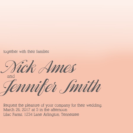 The Awesome Ombre Wedding Invitation
