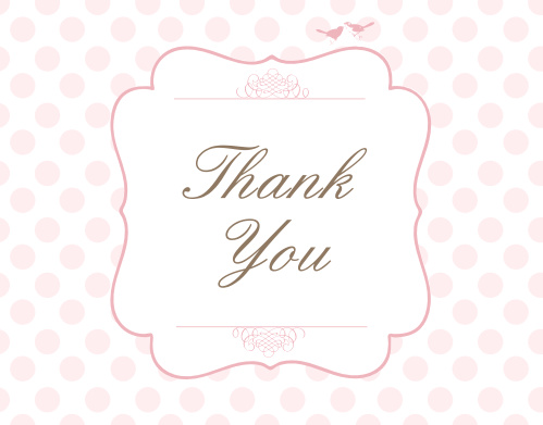 With it's timeless charm the Brunch Polka Dot Bridal Shower Thank You Card is perfect for expressing your gratitude to loved ones. Completely customizable, too!