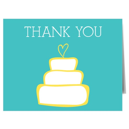 Your guests just showered you with love before your big day, write them a sweet note of gratitude in our Cake Bridal Shower Thank You Card. Customize each element to create a masterpiece all your own!