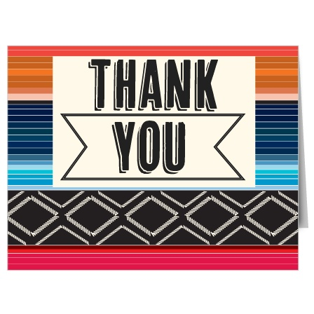 Fiesta Bridal Shower Thank You Cards