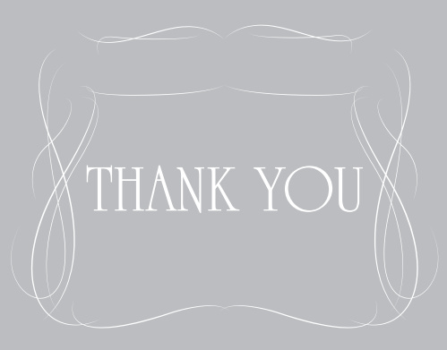 Elegantly express your gratitude to family and friends with the Fill In The Blank Bridal Shower Thank You Card. Completely customizable too!