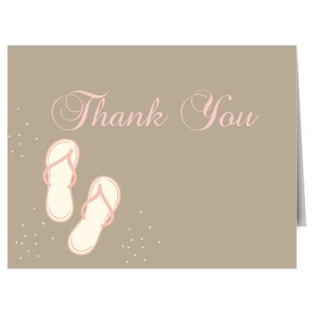 Flip Flop Bridal Shower Thank You Cards