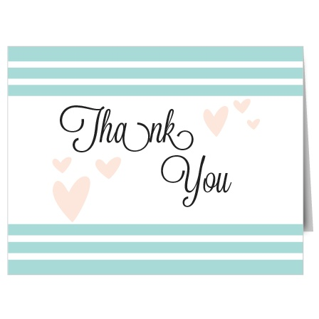 Heart Sent Bridal Shower Thank You Cards