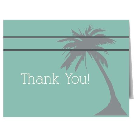 Honeymoon Bridal Shower Thank You Cards