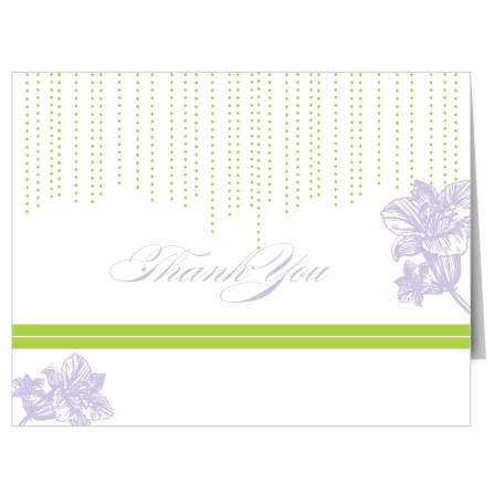 Lilly Bridal Shower Thank You Cards