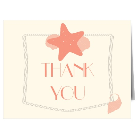 The nautical themed Starfish Bridal Shower Thank You Card is perfect for all those wanting a cool, coastal presence while they express their thanks to family and friends! Completely customizable, too!