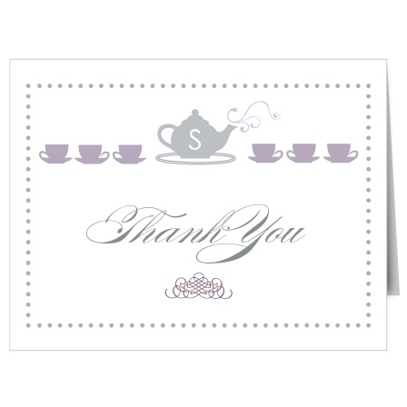 Tea Time Bridal Shower Thank You Cards
