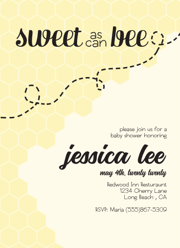 Bumble bee baby shower invitations match your color style free sweet as can bee baby shower invitations filmwisefo