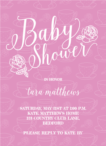 Tea party baby shower invitations match your color style free tea party baby shower invitations filmwisefo
