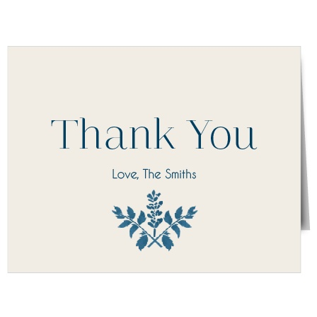 Express your gratitude to family and friends with the Painted Floral Thank You Card