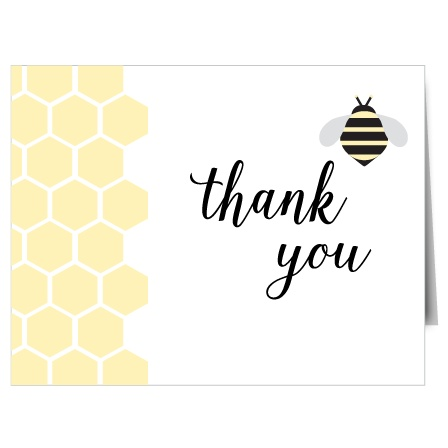 With a delicate honeycomb design, this card will sure BEE a hit amongst it's recipients! The Honeycomb Baby Shower Thank You Card is ready to be completely customized!