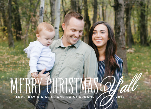 The Southern Hospitality Christmas Cards allows your photo to stand center stage of this design. Customize the design features as well as add your own personal touches using our hundreds of customization options.