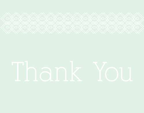 The Patterned Perfection Graduation Thank You Card is a cute and sophisticated way to express your gratitude to all those who have celebrated your accomplishments.Choose from hundreds of font, text and color options