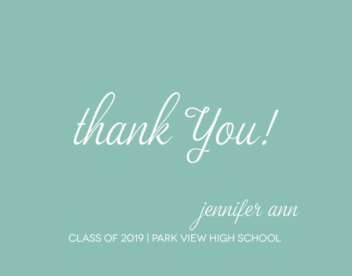 The Perfect Moment Graduation Thank You Card is a simple yet adorable way to express your gratitude to family and friends. Choose from hundreds of font, text and color options