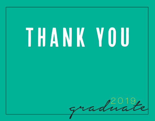 With customizable text, a space to add your graduation year, and unlimited color and font options, the Photo Year Graduation Thank You Card is a one of a kind way to express your gratitude to friends and loved ones. Choose from hundreds of font, text and color options