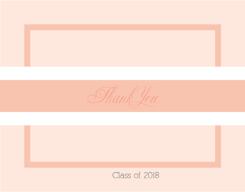 With multiple layers, the Photo Stripe Graduation Thank You Card offers many options for customizations. Choose from hundreds of font, text and color options