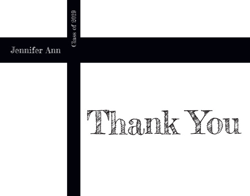 Simple, yet sophisticated, the Picture Perfect Graduation Thank You Card is a perfect way to express your gratitude to all those who have celebrated your accomplishments. Choose from hundreds of font, text and color options