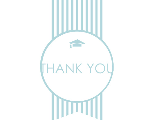The Ribbon Seal Graduation Thank You Card is a simple but elegant way to express your gratitude to friends and loved ones. Choose from hundreds of font, text and color options