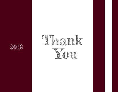"""The School Spirit Graduation Thank You Card is a fun and simple way to say """"Thanks!""""Choose from hundreds of font, text and color options"""
