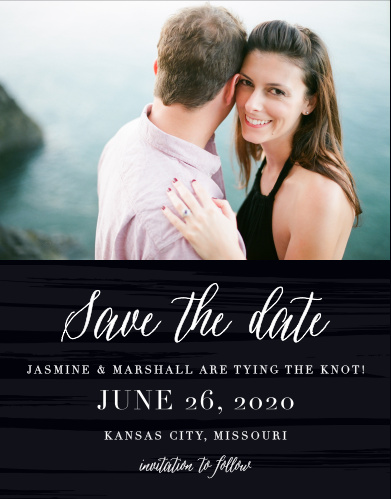 Stay ahead of wedding trends with the Haute Couture Save-the-Date Cards from the Love Vs Design Collection at Basic Invite.