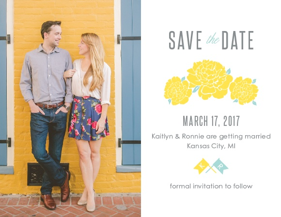 Ensure that your friends and family know when your wedding will be using the Say Yes Save-the-Date Cards.