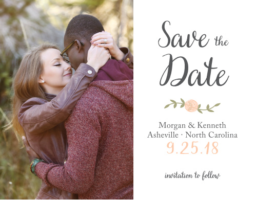 Ensure that your friends and family know when your wedding will be using the Rustic Nature Save-the-Date Cards.