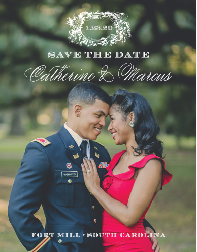 Style & Grace Save-the-Date Cards are the perfect reminder for your perfect day.
